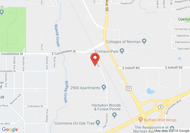 Google map image of 2900 Oak Tree Ave Apt 11302 Norman OK