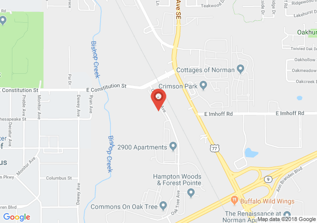 Google map image of 2900 Oak Tree Ave Apt 11302 Norman, OK 73072